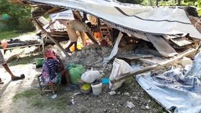 Photo of earthquake devastation at orphanage