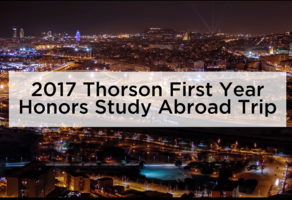 Thorson First Year Honors Barcelona Trip