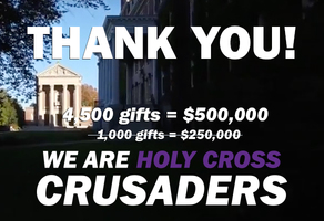 We Are Holy Cross Crusaders!