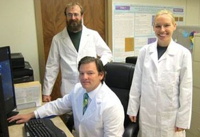 Dr. Sellers and colleagues in ETSU's BCI Laboratory.