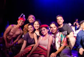 Kasamahan students performing at Barrio Fiesta