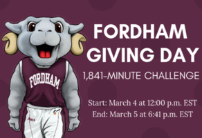 Fordham Giving Day: 1,841-Minute Challenge