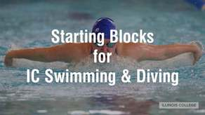 Starting Blocks for IC Swimming and Diving Campaign Image