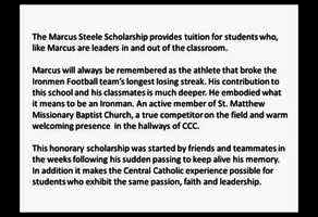 Marcus Steele Scholarship Fund Campaign Image